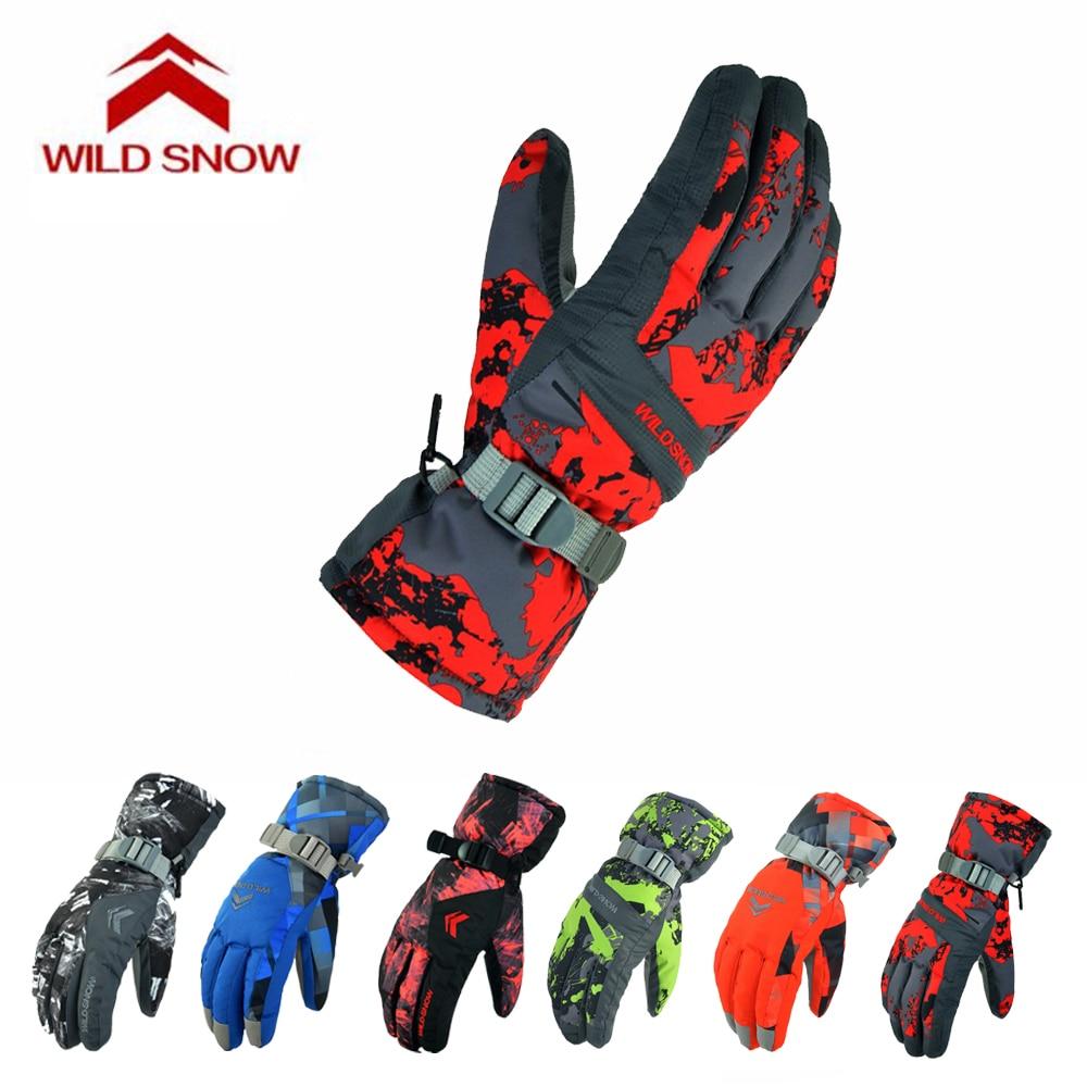 Women Men Skiing Gloves Outdoor Sport Ski Gloves Winter Windproof Warm Waterproof Snow Gloves Snowmobile Motorcycle Riding