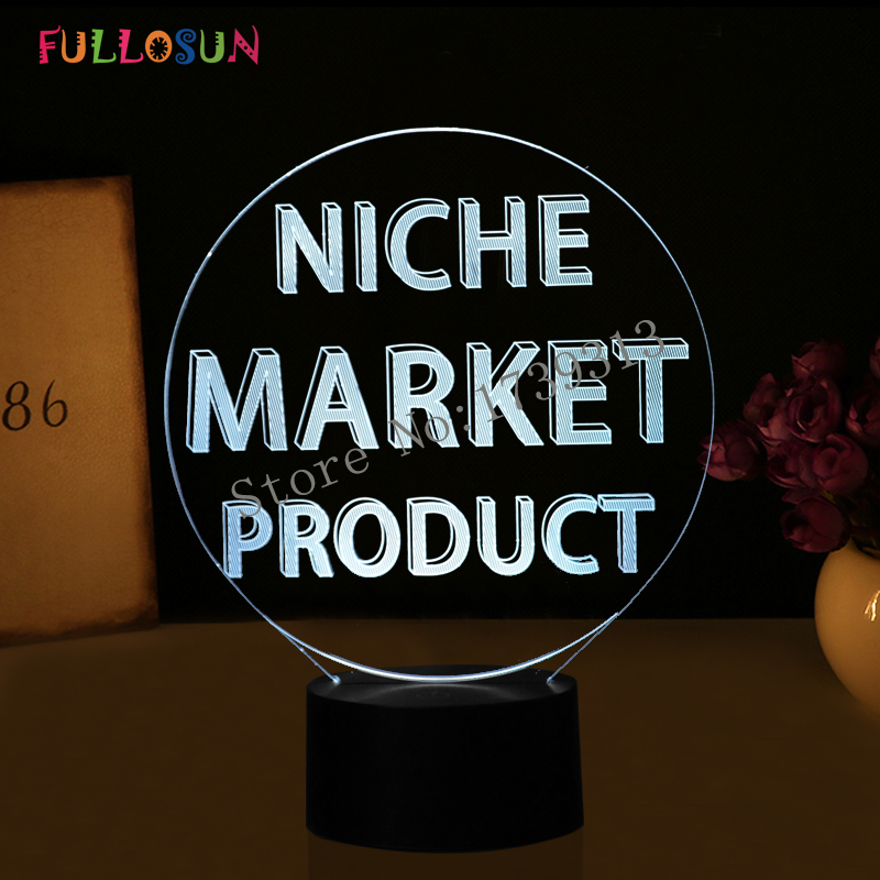 LED Lamp Design for Customization 7 Color Night Lights as Holiday Novelty Gift