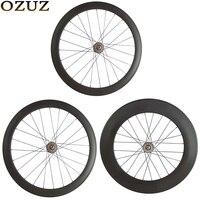 OZUZ Novatec A165SBT/A166SBT Hub 38 50 88mm Rear track bike wheels Tubular or Clincher 3K 700c Matte glossy Mac Aero 474 wheel Bicycle Wheel Sports & Entertainment -