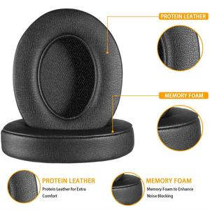 Image 3 - Wantek Beats Replacement Ear Pads Cushion Compatible with Beats Studio2 and Studio3/Wired B0500/Wireless B0501 Headphones, Black