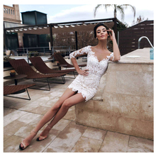 Smileven Áo Cưới Mini Ngắn Áo Sơ Mi Cô Dâu Váy Cưới Cô Dâu Đồ Bầu 2021 Tự Làm