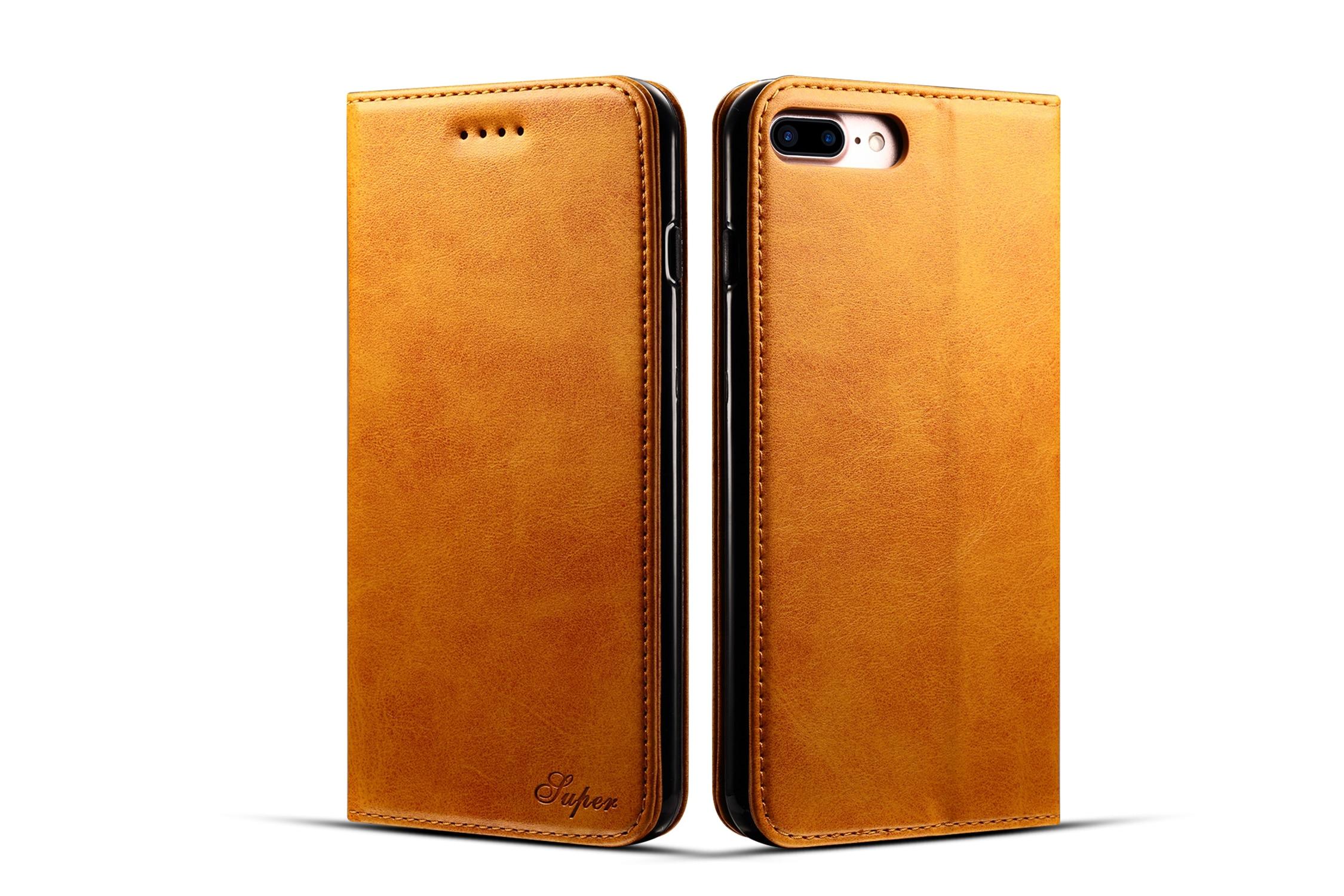 imágenes para Para la Caja Del Teléfono iphone 7 Más Cubierta de TPU + Cuero de LA PU Magnética caso Para el iphone 7 Más Caja de La Carpeta Para el iphone de Apple 7 Más Fundas