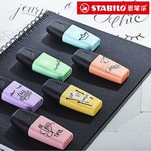 Stabilo Highlighter Mini BOSS Student Marking Marcadores Kawaii Colorful Pen Set Destacadores Subrayador Papeleria