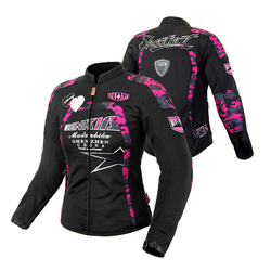 BENKIA Spring Summer Autumn Motorcycle Jacket Women Breathable Mesh Racing Riding Moto Jacket Protective Gear Motorbike Clothing