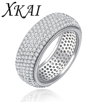 Fashion White Gold Plated Rings Cz Diamond Jewelry Trendy Engagement Accessories Wedding Bague Rings For Women