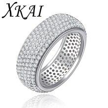Oro Blanco de la manera plateó los anillos de compromiso cz diamond joyería de moda accesorios de boda bague anillos para mujeres regalos XKR196