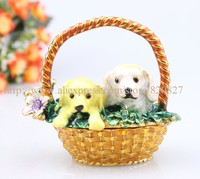 Mother S Day Gift Dogs Basket Design Jewelry Organizer Trinket Box