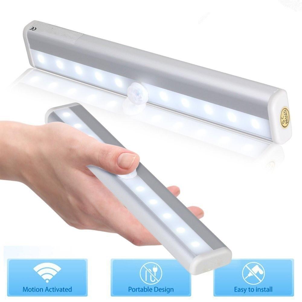 PIR Motion Sensor LED Night Light Smart Human Body Light Control Dual Induction Magnetic Closet Cabinet Toilet Stairs Night Lamp