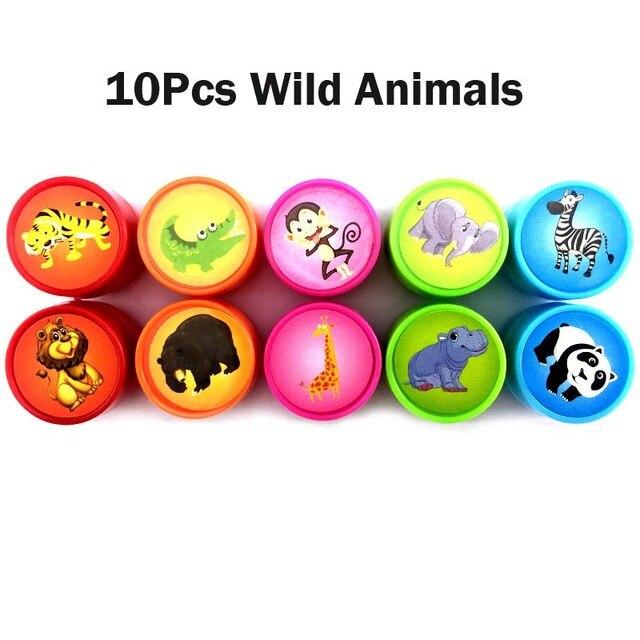 10Pcs Wild Animals