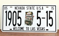 welcome to las vegas 1905 5-15 metal tin signs Vintage License Plate wall decoration Plaque XD-1204 15x30cm wall pictures