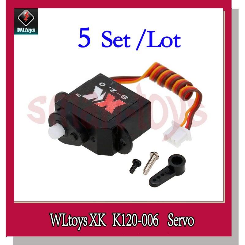 5Set K120 006 Servo for Wltoys XK K120 RC Helicopter Spare Parts K120 Servo