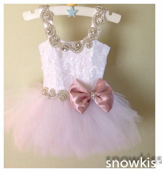 Cute mini pink lace little girls crystals bow ball gowns for wedding lovely kids beaded button toddler glitz pageant dress цены