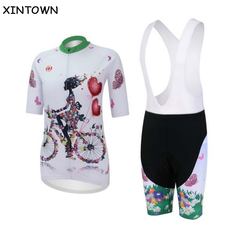 XINTOWN Cycling Jersey Women Bike Bicycle jersey / tops or shorts or bib shorts  Bicycle Printed Clothing Team Cycle Clothes