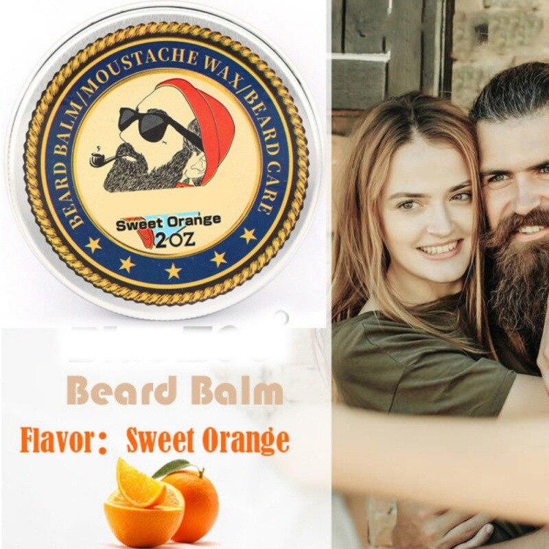 Men Beard Oil Balm Moustache Wax for styling Beeswax Moisturizing Smoothing Gentlemen Beard Care 4