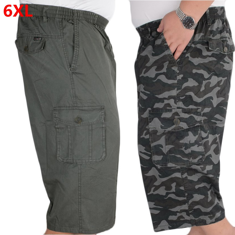 Summer Thin Loose Shorts Men's Overalls Men's Multi-pocket Shorts Outdoor Casual Sports Cropped Trousers
