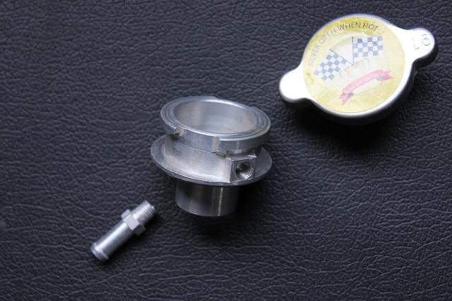 1.6 BAR 23.2 LBS/PSI CHROME RADIATOR CAP&Filler Neck for HONDA SUZUKI YAMAHA MADE IN JAPAN