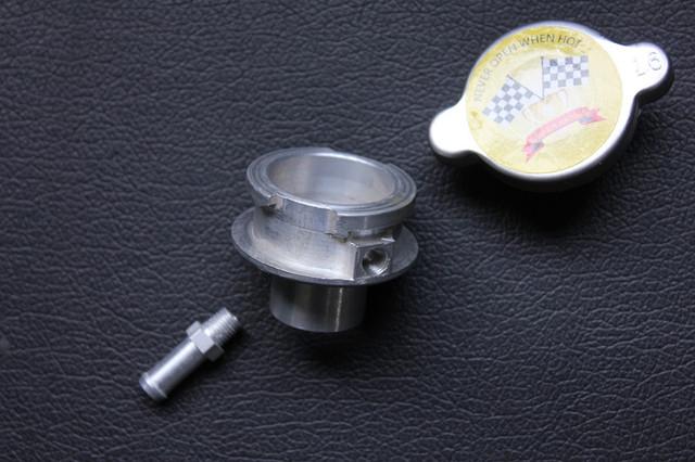 1.6 BAR 23.2 LBS / PSI CHROME RADIATOR CAP & Filler pescoço para HONDA SUZUKI YAMAHA MADE IN JAPAN
