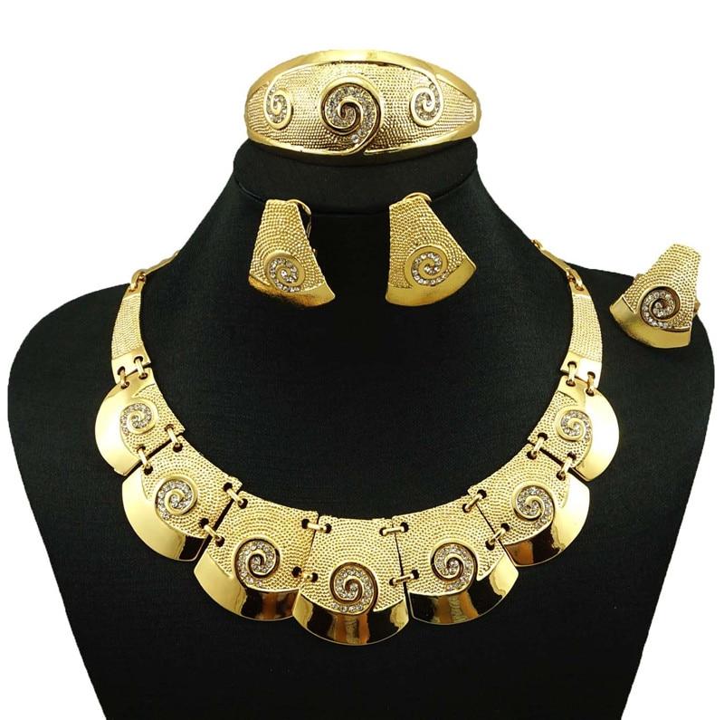indian jewelry dubai gold jewelry women fashion necklace fine