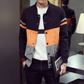 Тенденция Весна Осень Молодых мужчин Лоскутное Хип-Хоп пальто куртки мужские jaqueta Ветровка мужской моды туризм куртки Ветрозащитный