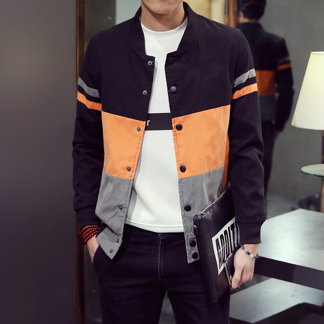 Trend Spring Autumn Young men Patchwork Hip Hop jacket coats men's jaqueta Windbreaker fashion male tourism jackets Windproof