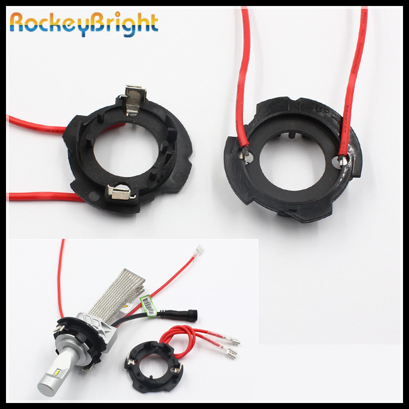 Rockeybright H7 led headlight retainer clip for Volkswagen golf 5 h7 headlamp socket adapter for VW golf jetta h7 bulb holder fsylx led h7 bulb holder adapter for hyundai veloster i30 h7 led headlight headlamp h7 base adapter for kia k4 k5 sorento ceed
