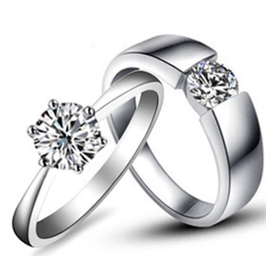 Lovely Design Certified Moissanite Pair Rings 1 25CT Moissanite