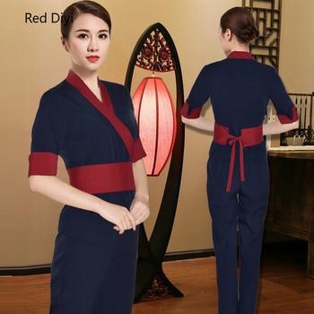 Beauty salon uniform beautician  spa health center work clothes women's  foot bath sauna massage health technician clothing suit