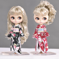 2017 NEW Fashion 1 PCS 1 6 Japanese Kimono For Blyth Doll Clothes Doll Accessories