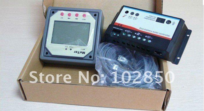 20Amp, контроллер заряда солнечной батареи Контроллер, 12/24 V автоматическая работа, режим зарядки PWM, Батарея типы выбор, ЖК-дисплей дисплей метр MT-1