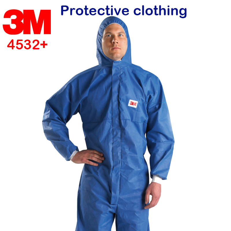 3M 4532+ protective suit blue Siamese Back Breathable Safety clothing Anti-particulate dust Anti-liquid hazards protective suit diy arcade game kit jamma game pcb 60 in 1 28pin wire harness power supply for crt lcd 60 in 1 arcade video game machine