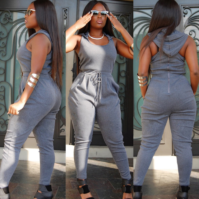 2015 Women Summer Fashion Casual Rompers Womens Jumpsuit Sleeveless