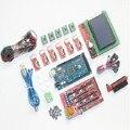 CNC Kit para Arduino Mega 2560 R3 + 1.4 Controlador de Plataforma + LCD 12864 + 6 Interruptor de Limite de Bloqueio + 5 A4988 Motorista Stepper