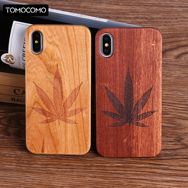 Plants Pineapple Heart Real Wood Case Cover Coque Capas Fundas For iPhone 6 6S 6Plus 7 7Plus XS Max Samsung S7 S7E S8 S9 Plus