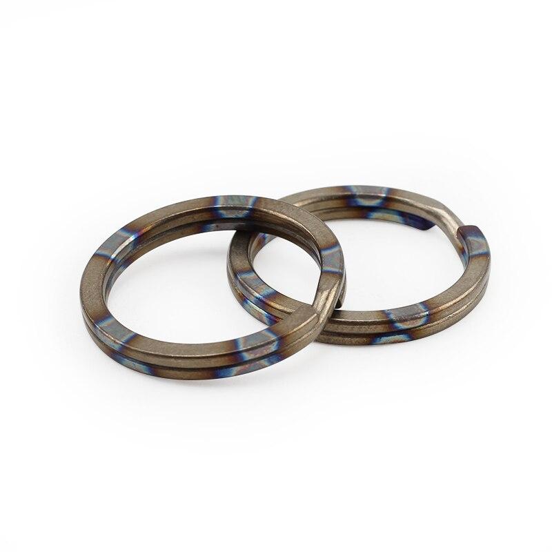 1 pièces en alliage de titane anneau suspendu en plein air petit outil porte-clés escalade