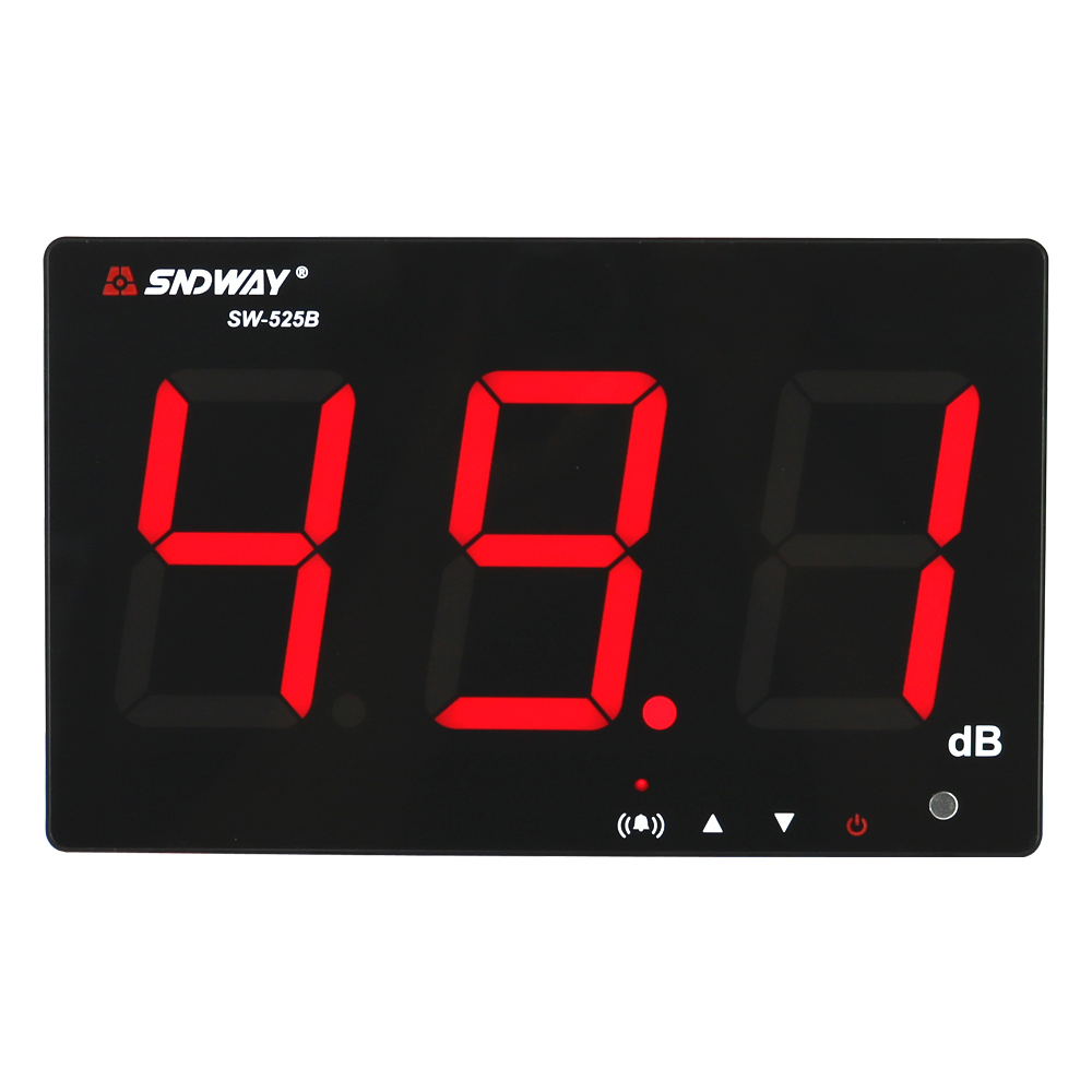 SNDWAY SW-525B Digital Sound Level Meter 30-130dB Large Display USB Powered 9.6 Decibel Meter Sound Diagnostic-tool 1 pc 13 index pockets layers document file folder expanding walle a4 size papers bag more to send a plastic ruler