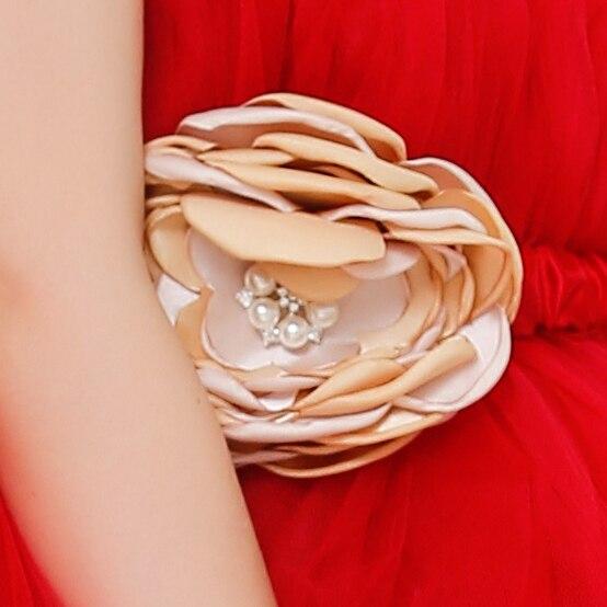 b743584eb99f7 La Fille À La Main Rouge Gaze Robe Fleur Fille Robe soutien gorge TUTU Robe  Bébé Filles 6 8 Ans De Mariage robe dans Robes de Mère et Enfants sur ...