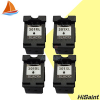 4pcs Black Ink Cartridges For HP301 HP 301 HP301XL DeskJet 1050 2050 2050s 2510 3050a 3510