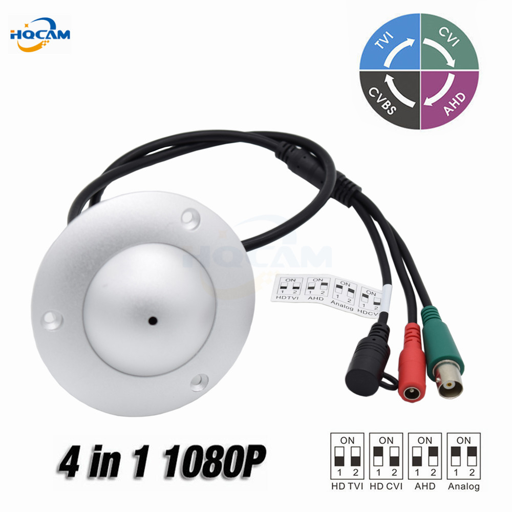 HQCAM Mini CCTV Dome Camera 2MP 1080P 4 IN 1 AHD/CVI/TVI/CVBS Camera Indoor Elevator Lift Security UFO Camera OSD DIP switch 4 in 1 ahd camera 720p 1080p hd cctv dome cvi tvi camera cvbs night vision cmos 2000tvl hybrid camera security osd menu switch