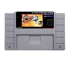 Hot Sale Super Bomberman 4 Game Card For 46 Pin 16 Bit NTSC Game Player