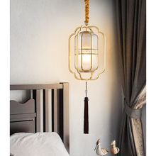 Chinese Style Modern Pendant Ceiling Lamps Copper LED Pendant Lights Dining Room Loft Bedroom Pending Lighting Hanging Light цена и фото