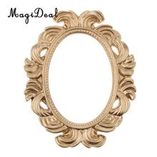 Marco de mirilla de puerta de resina barroca ovalada Vintage decoración del hogar recuerdo de boda dorado