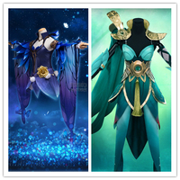 2017 fashion dress King of Glory Butterfly dream The sable cicada Di Chan elves of forest YuJi costume cosplay costume Halloween