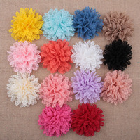 14pcs/lot Wholesale new lace wave edge cloth flowers 14 colors can be equipped with a headband hairpin hat handmade flower shoes