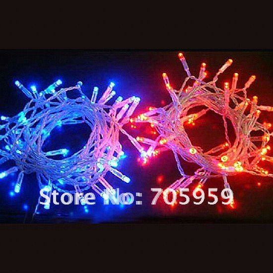onling factory direct sale 100 led string lights for clear wire christmas xmas 110v 5pcs lot. Black Bedroom Furniture Sets. Home Design Ideas