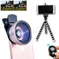 Clips Universal 12.5X Lentes Macro 0.45X Lente Grande Angular Para Câmera Do Telefone Celular Microscópio Com Tripé Móvel do Bluetooth do obturador