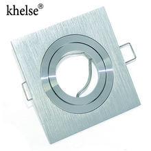Современный алюминиевый Встраиваемый прожектор монтажная рама MR16/GU10 разъем Регулируемый потолочный фитинг отверстие лампы осветительный прибор
