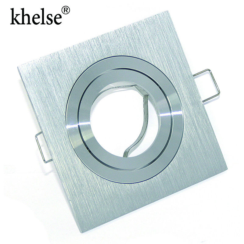 Modern aluminum Recessed Spotlight mounting frame MR16 / GU10 socket adjustable Ceiling fitting hole lamp lighting fixture ...