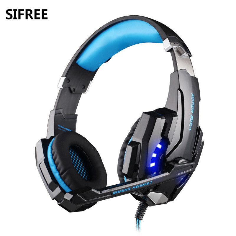 SIFREE G9000 3.5mm Game Gaming headphones Wired Headset Earphone With Mic LED Light For Laptop Tablet NEW fast free ship for gameduino for arduino game vga game development board fpga with serial port verilog code