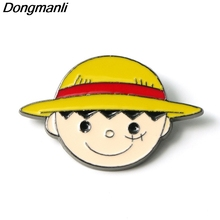 P3832 Dongmanli Anime ONE PIECE Metal Enamel Brooches and Pins Collection Lapel Pin Backpack Badge Collar Jewelry