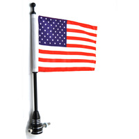 1 PC Rear Luggage Rack Flag Mount Pole USA American Flag For Harley Sportster XL 883